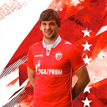 Macron red FC Red Star jersey 2018 19   Small Serbian Shop 5c7558fa1