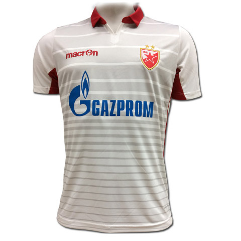 Macron white  provisional  FC Red Star jersey 2017 18. Move your mouse over  the image to zoom 9914dadce