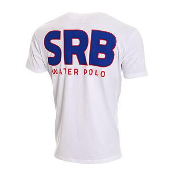 7607b02f0 Official Serbia waterpolo T-shirt - white : Small Serbian Shop