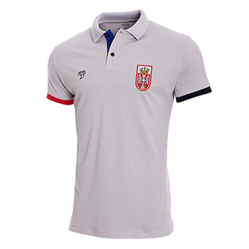 00e6d43c2 Official Serbia waterpolo polo shirt - gray   Small Serbian Shop
