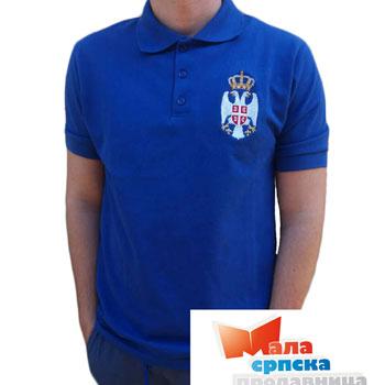 c83ab6344 Polo T shirt Serbia - blue   Small Serbian Shop