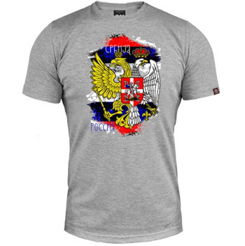 e13048742 T shirt Serbia - Russia - pale grey   Small Serbian Shop