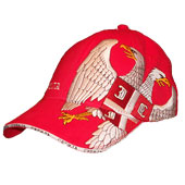 Serbia cap with embroided eagle