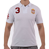 White polo shirt Rugby Serbia