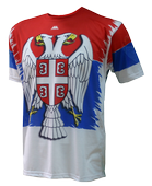T shirt Serbian in 3 colours with eagle