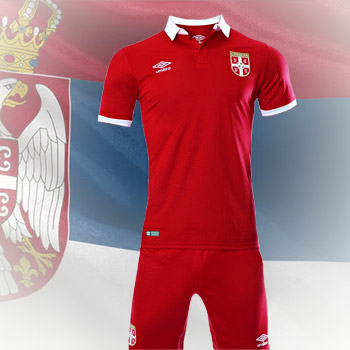 3098af0ea26 Umbro Serbia home kit 16/17 jersey + shorts : Small Serbian Shop