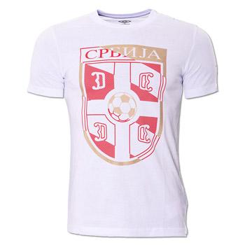 7092fc0aa5d Umbro t-shirt FAS logo - white : Small Serbian Shop