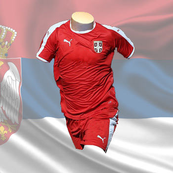 b7927d9e9ba Puma kit - Serbia home jersey and shorts for World Cup 2018   Small Serbian  Shop