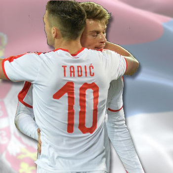 7860fc390 Puma Serbia away jersey for World Cup 2018 with print   Small Serbian Shop