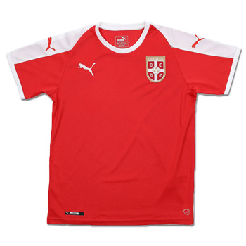 11479e2c9 Puma kids Serbia home jersey for World Cup 2018 : Small Serbian Shop