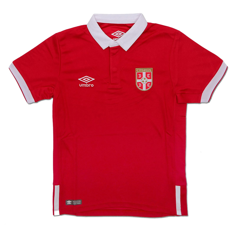 5cafbe980 Umbro kids Serbia home jersey 16 17 with print. Move your mouse over the  image to zoom