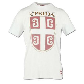 d1e1097edf2 Umbro t-shirt - Serbian emblem - white : Small Serbian Shop