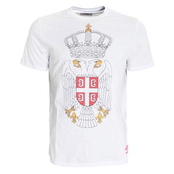 059955ac856 Umbro T-shirt Serbian eagle - Serbian anthem - white : Small Serbian Shop