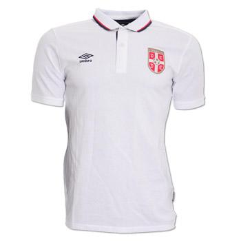 fd9fa6d415e Umbro Serbia polo t shirt 16/17 - white : Small Serbian Shop