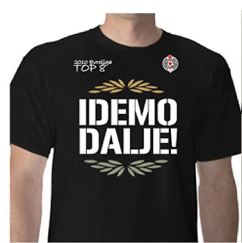 64019321c Partizan Top 8 T shirt : Small Serbian Shop